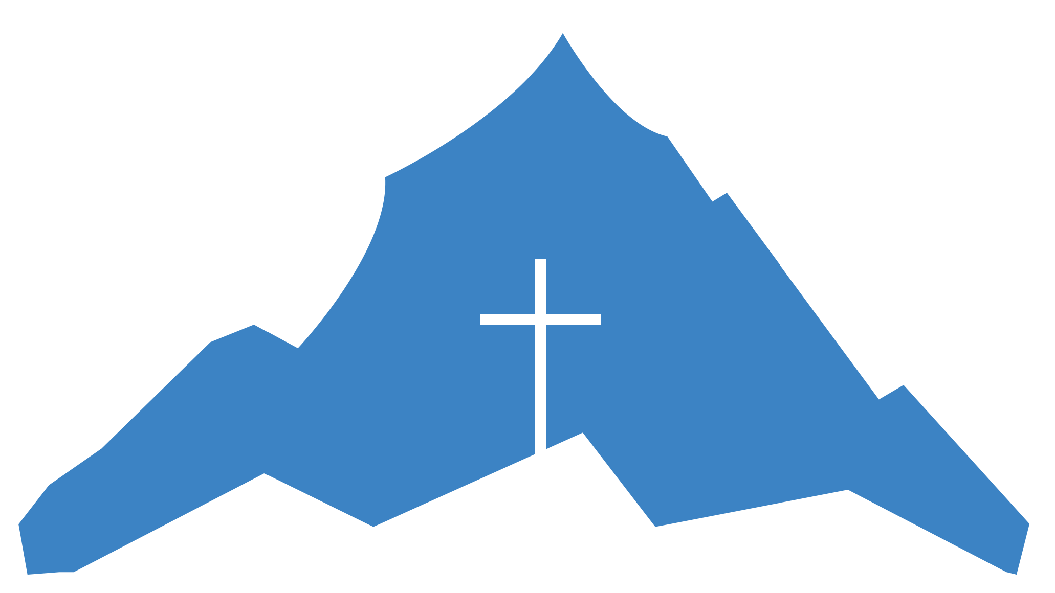 Summit Fellowship Alternate Logo- Blue Mountain with White Cross