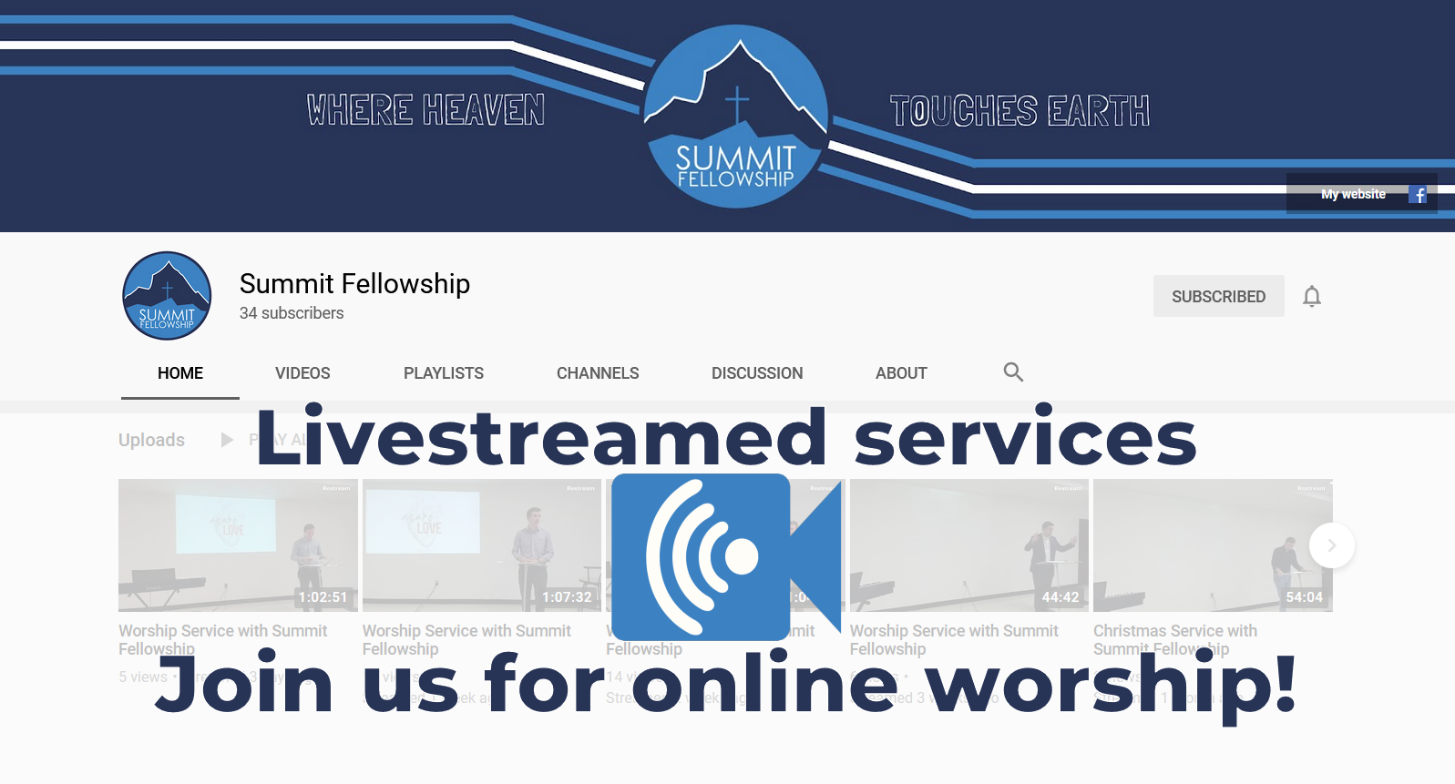 Livestreamed worship services